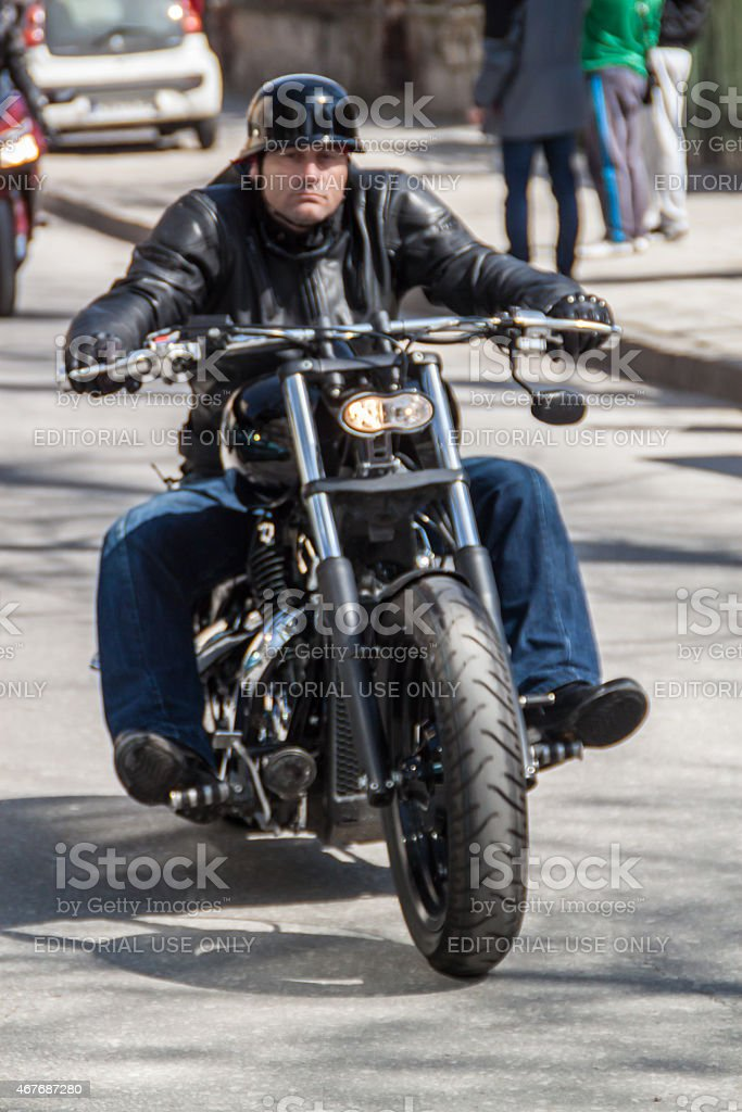 Motorcycle parade in Plovdiv, Bulgaria stock photo