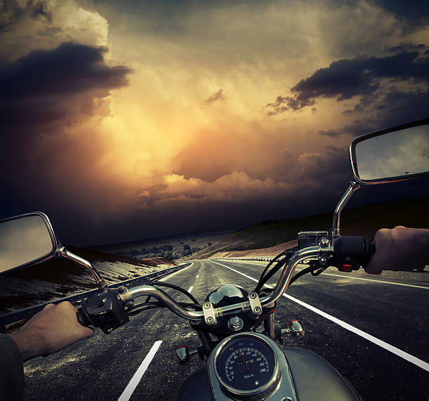 motorcycle - biker stock photos and pictures