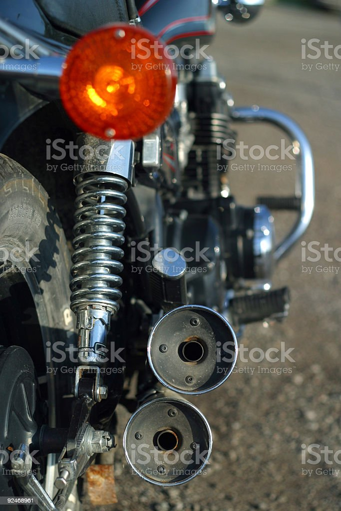 Motorcycle Pipes royalty-free stock photo