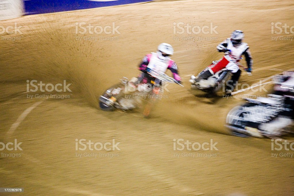 Motorcycle  race on the speedway royalty-free stock photo