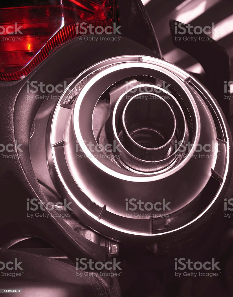 Motorcycle rear - Exhaust system royalty-free stock photo