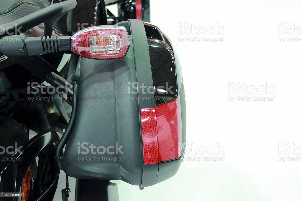 Motorcycle trasero luces y alforjas - foto de stock