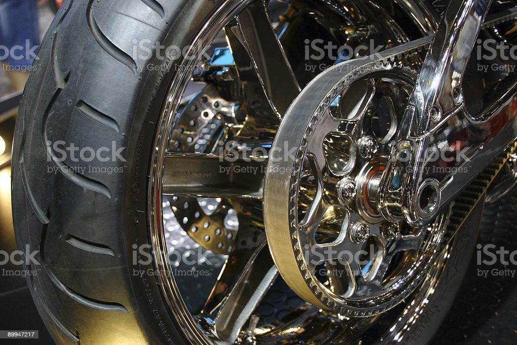 motorcycle rear wheel 2 stock photo