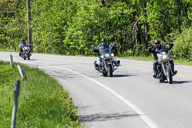 Motorcycle ride stock photo