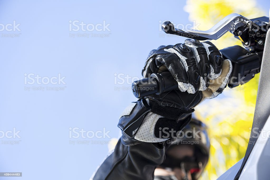Motorcycle Rider stock photo