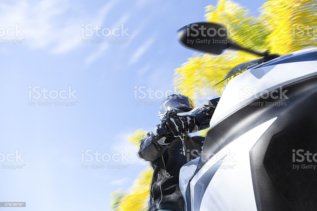 Motorcycle Rider royalty-free stock photo