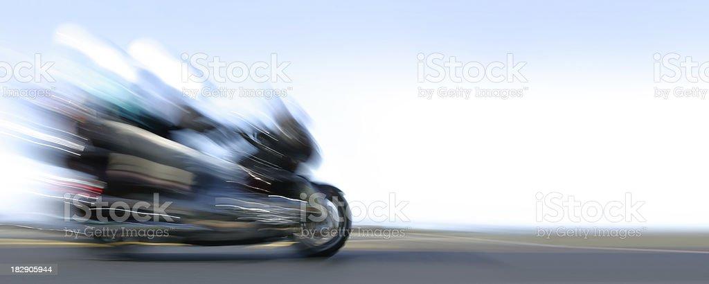 XXXL motorcycle riding couple royalty-free stock photo