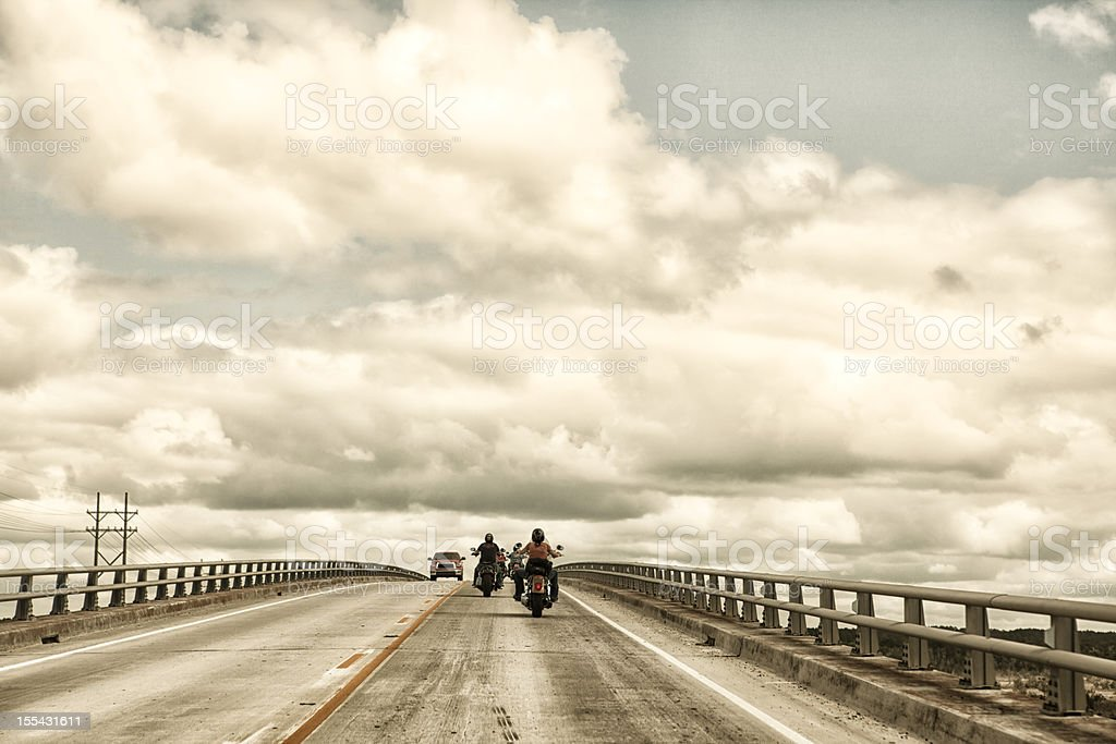 motorcycle roadtrip stock photo