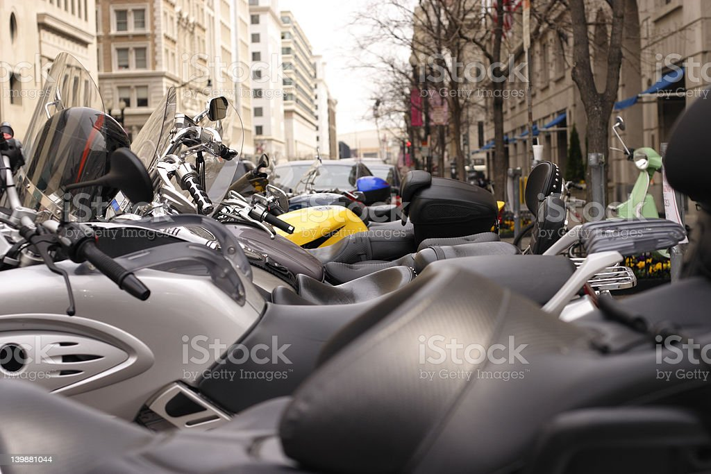 Motorcycle row royalty-free stock photo