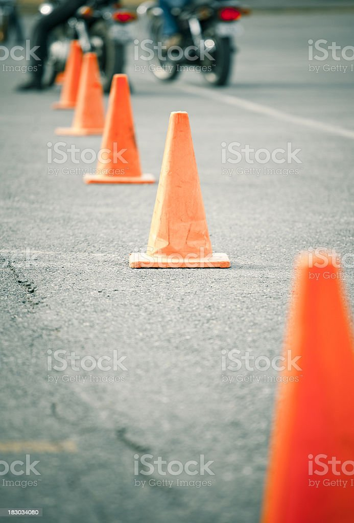 Motorcycle safety course royalty-free stock photo
