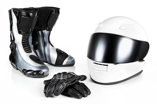 motorcycle safety equipments - sports glove stock photos and pictures