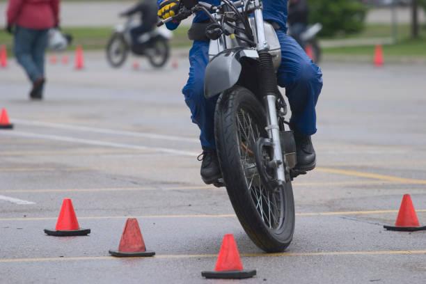 Motorcycle School 2 stock photo