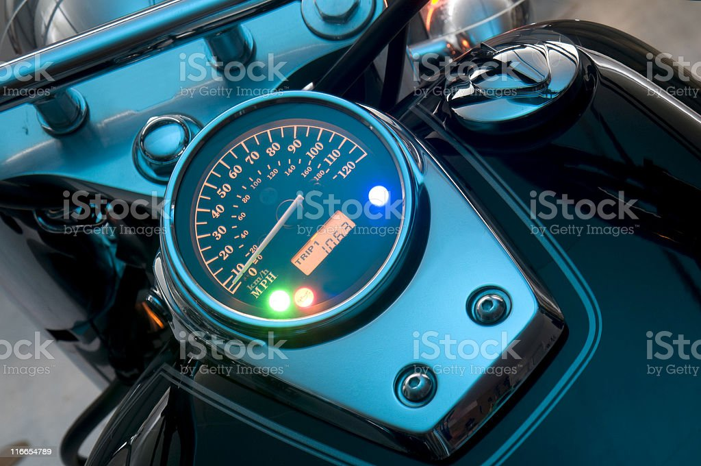 Motorcycle Speedometer royalty-free stock photo