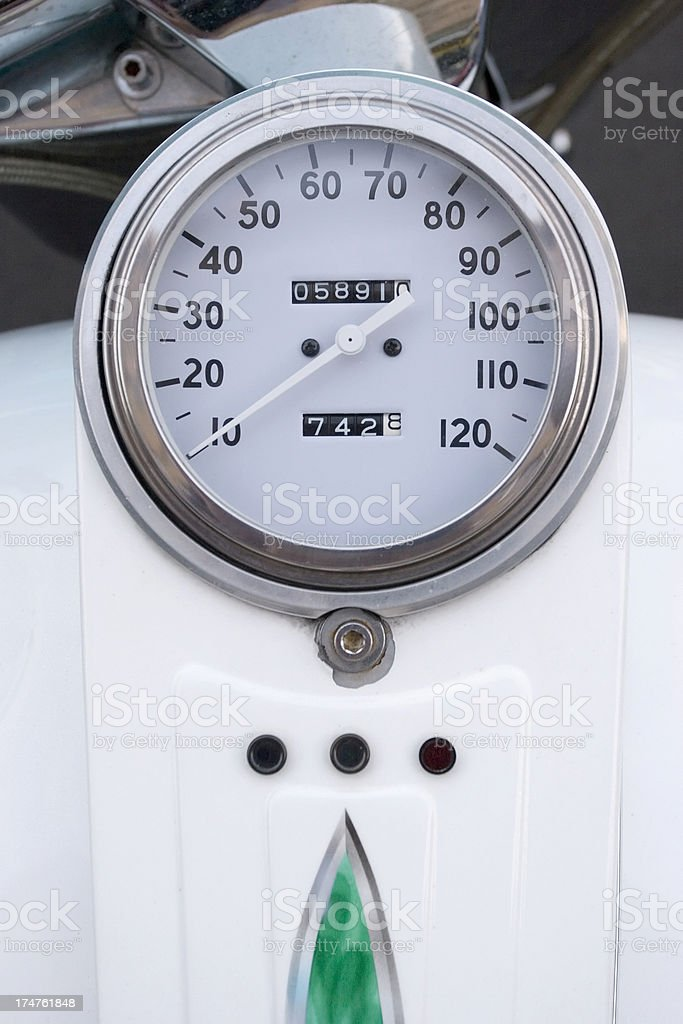 Motorcycle Speedometer royalty-free stock photo