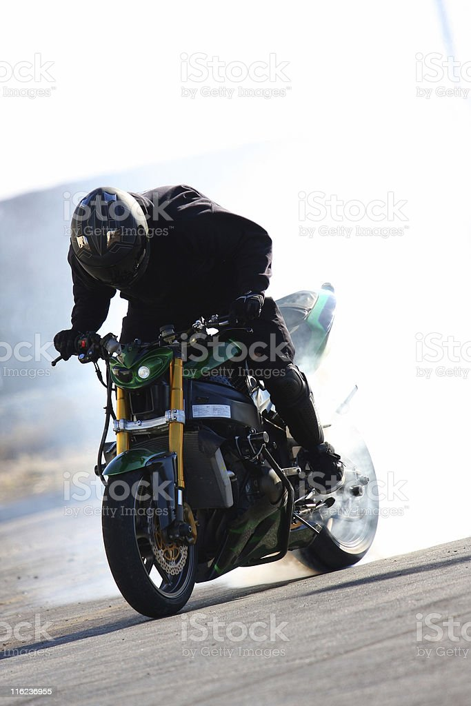 Motorcycle Stunt stock photo