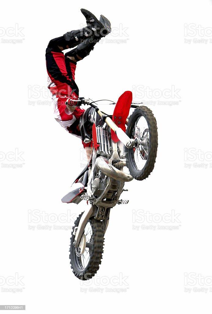 Motorcycle stunt rider royalty-free stock photo