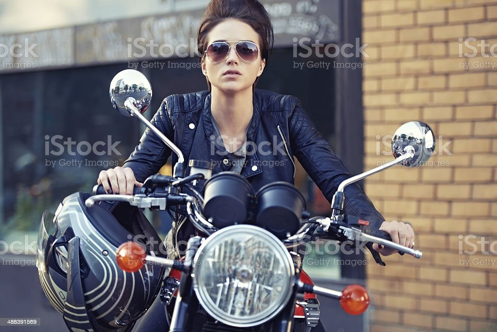 Motorcycle style stock photo