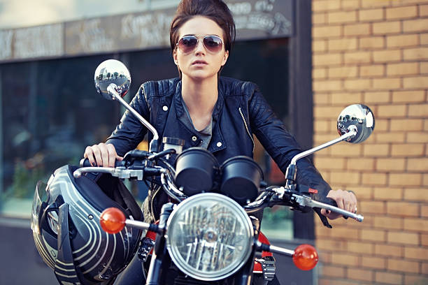 motorcycle style - biker stock photos and pictures
