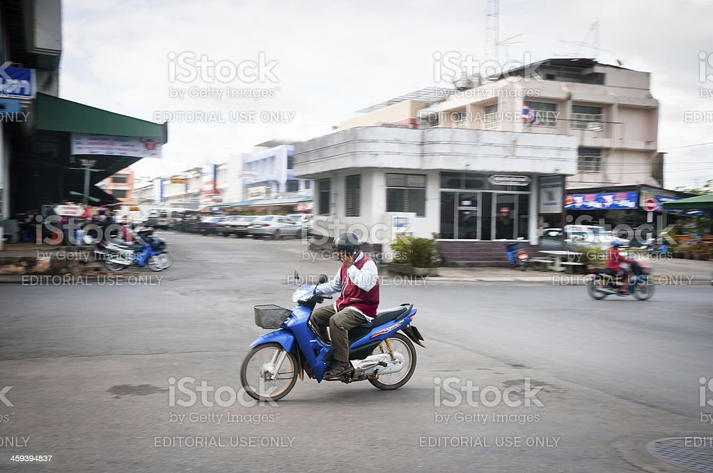Motorcycle Taxi Driver In Thailand stock photo