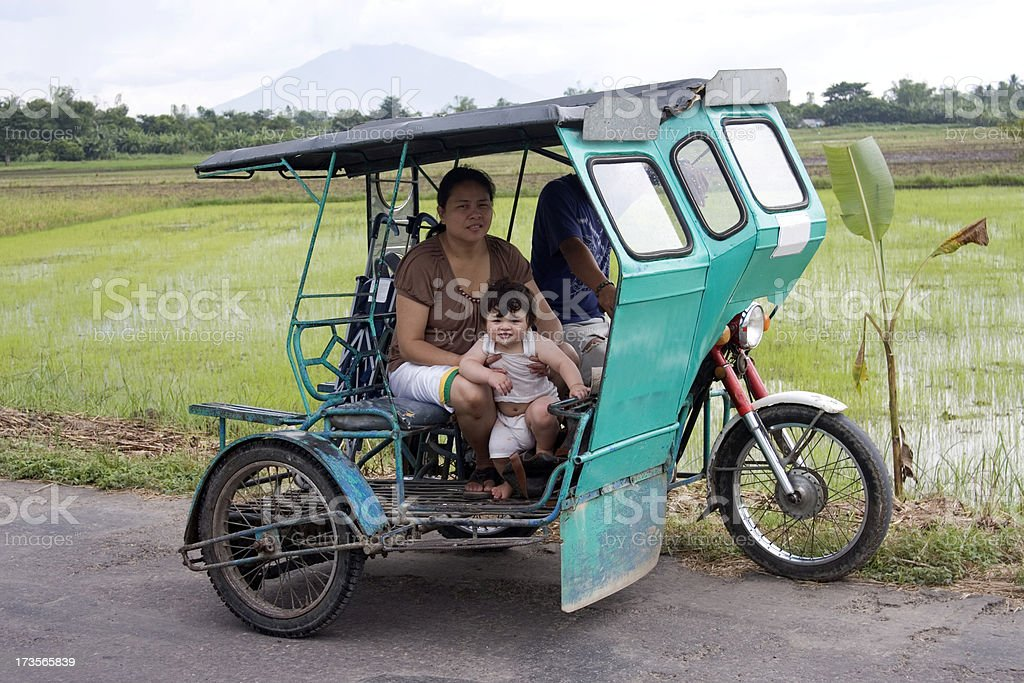 Motorcycle taxi royalty-free stock photo