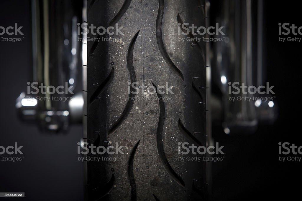 Motorcycle tire stock photo