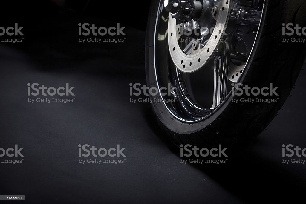 Motorcycle tire stock photo