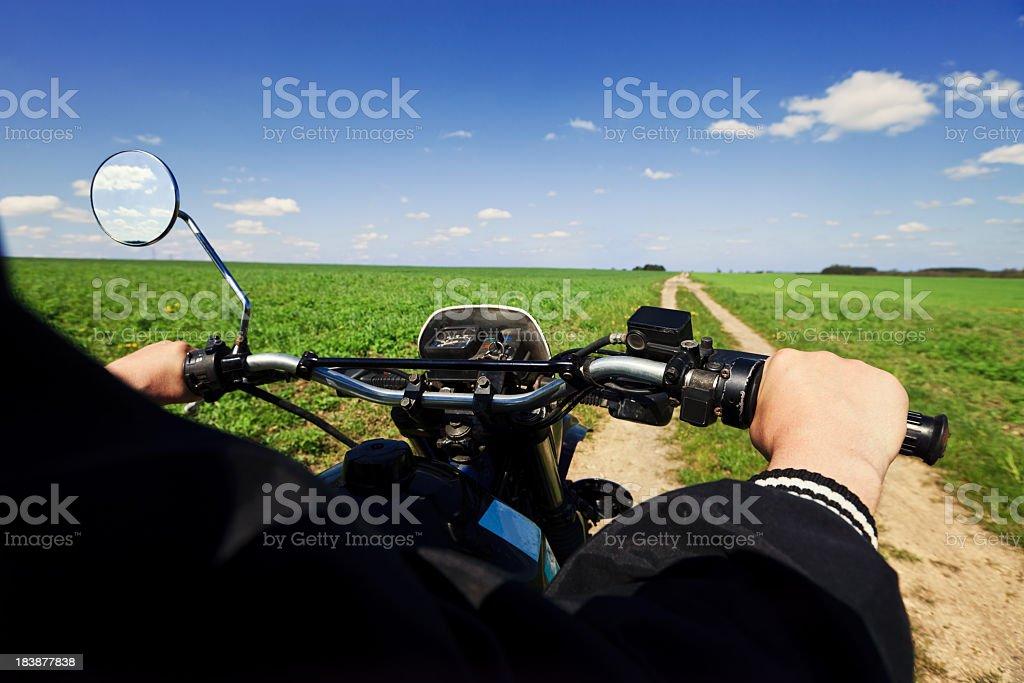 Motorcycle tour royalty-free stock photo