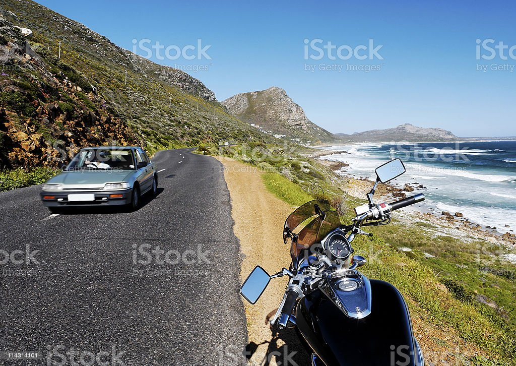 Motorcycle touring stock photo
