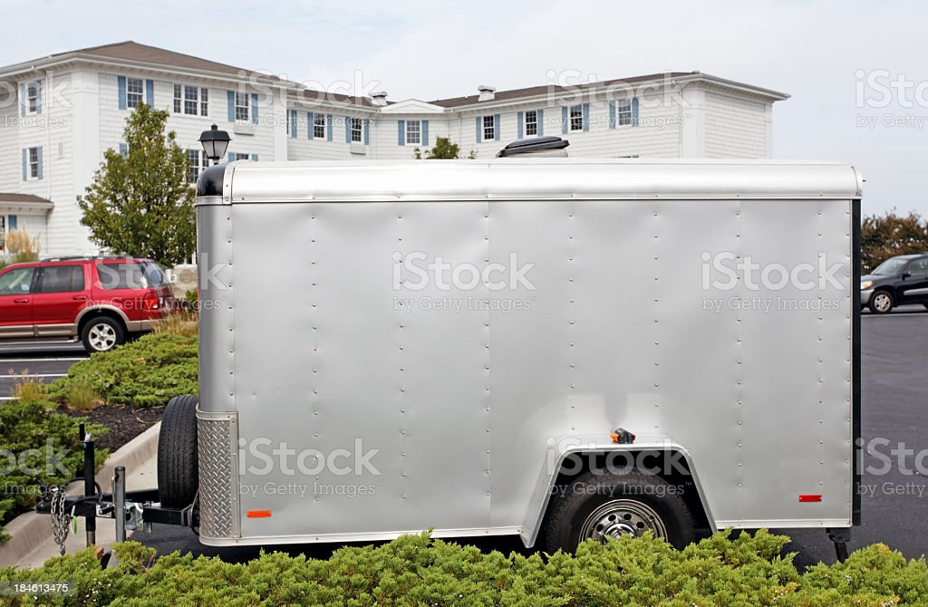 Motorcycle Trailer stock photo