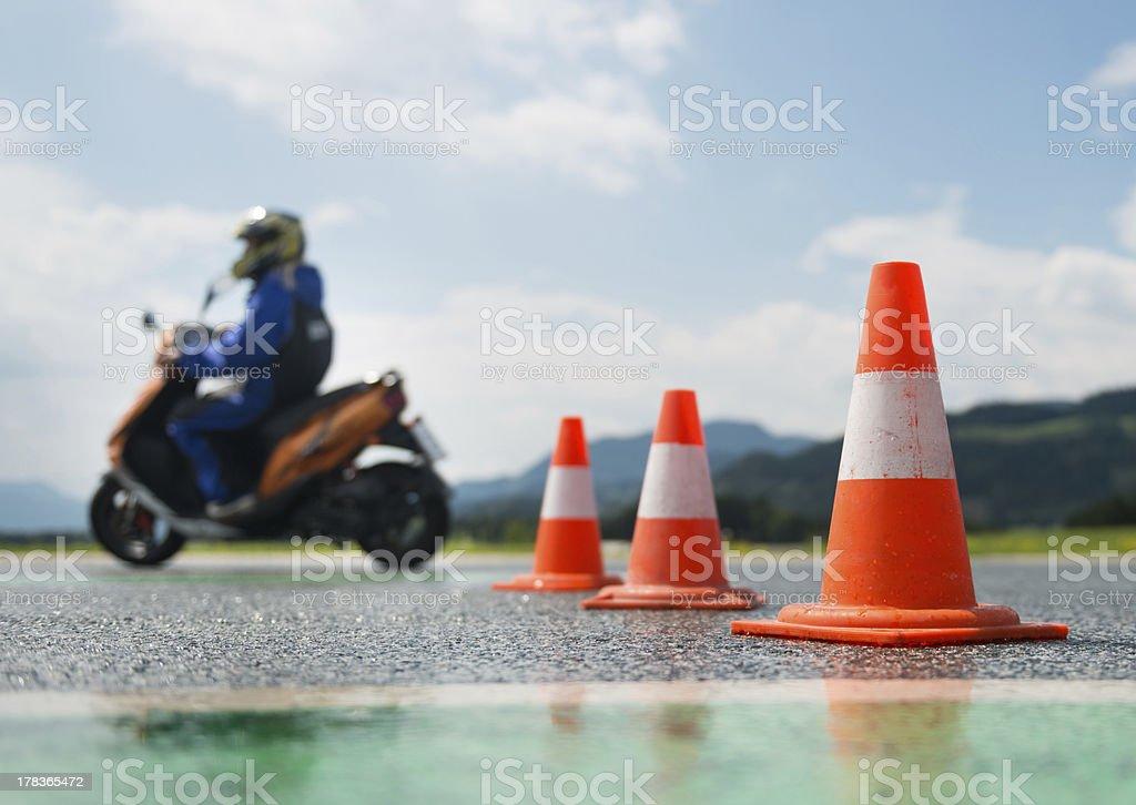 Motorcycle training school stock photo