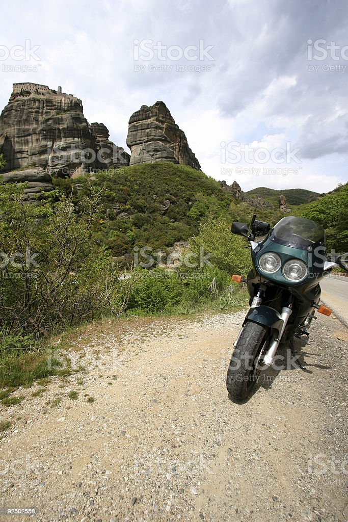 Motorcycle trip royalty-free stock photo