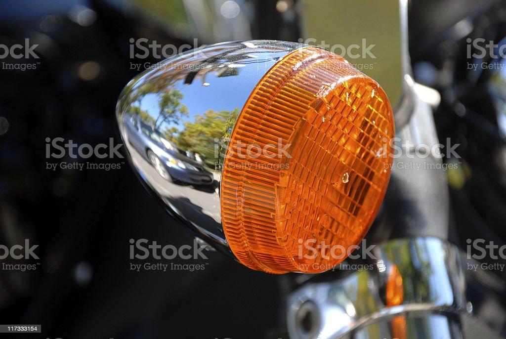 Motorcycle Turn Signal stock photo