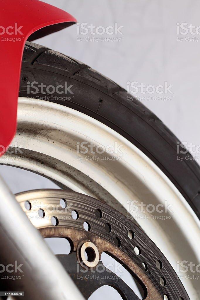 motorcycle wheel brake royalty-free stock photo