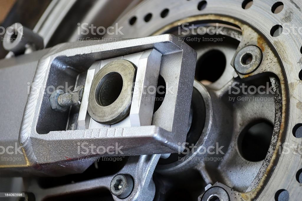 Motorcycle Wheel Hub Abstract Full Frame Background royalty-free stock photo