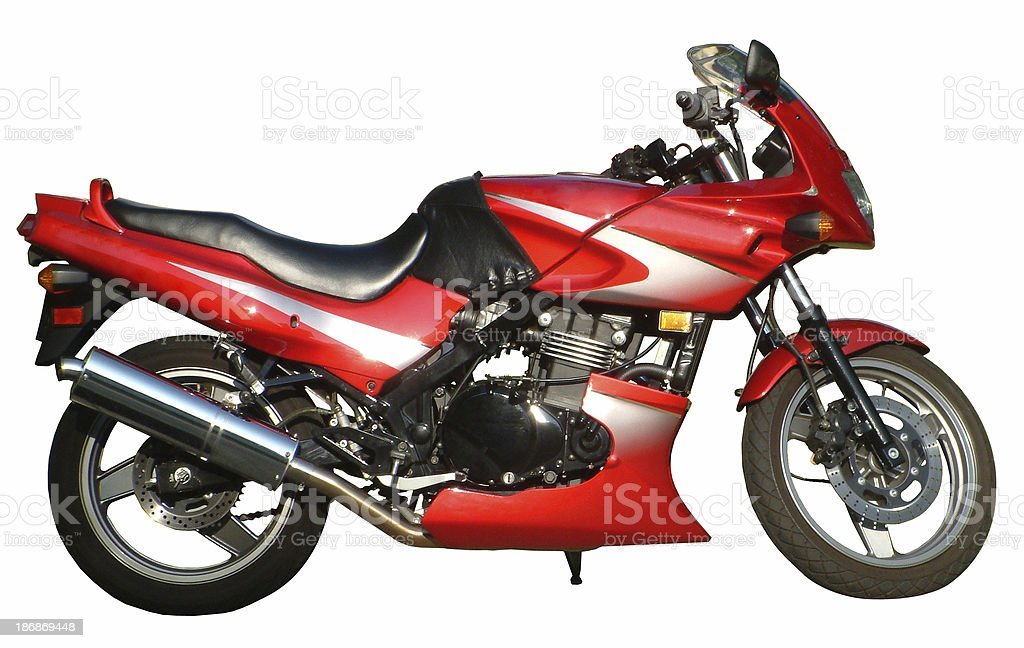 Motorcycle With Path royalty-free stock photo