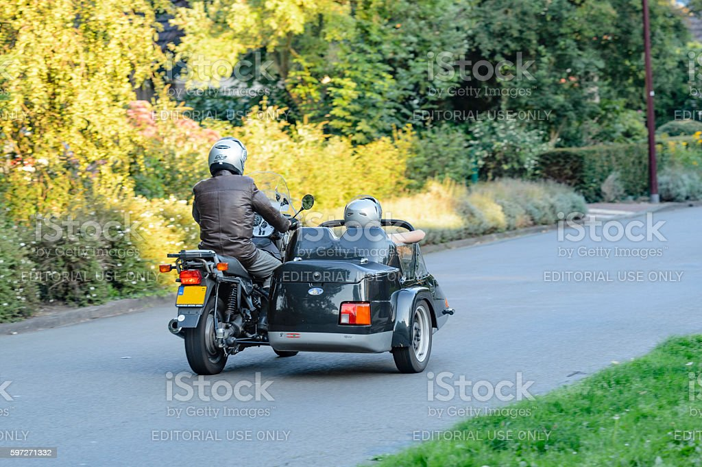Motorcycle with sidecar royalty-free stock photo