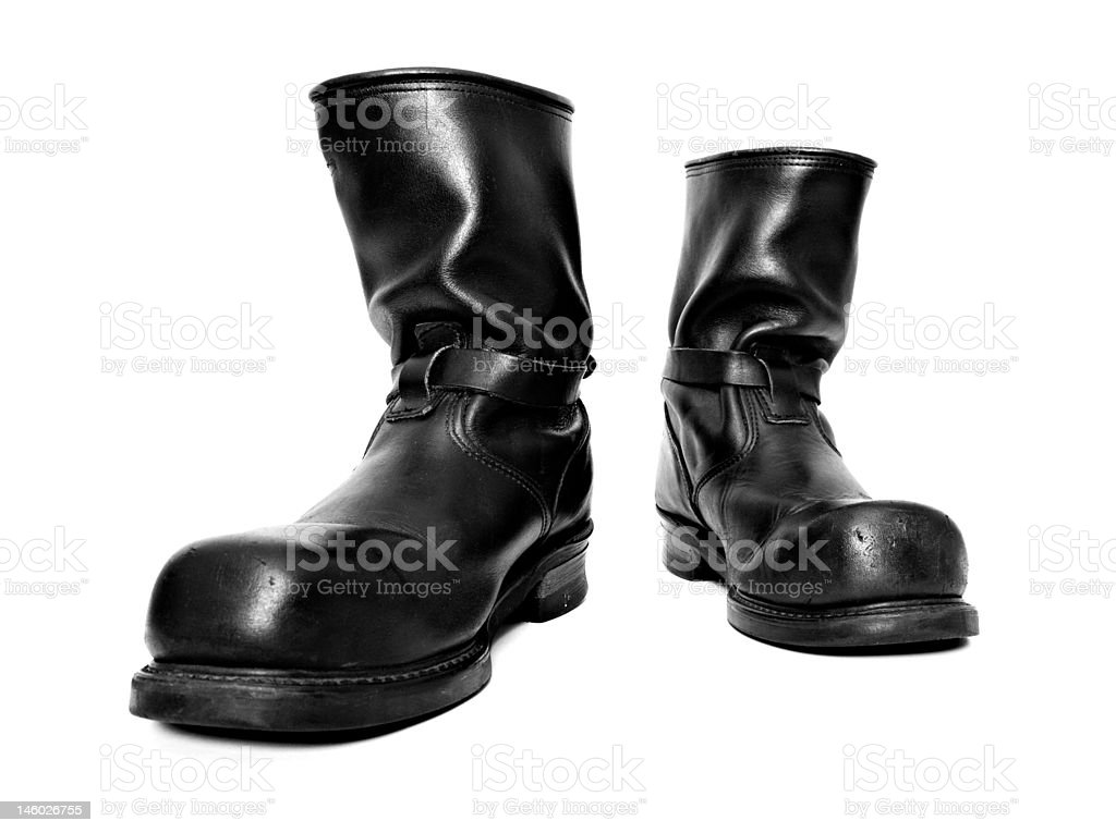 MotorcycleBoots stock photo