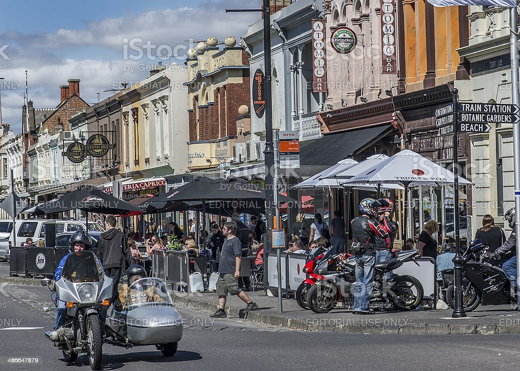 Motorcycles in Melbourne stock photo