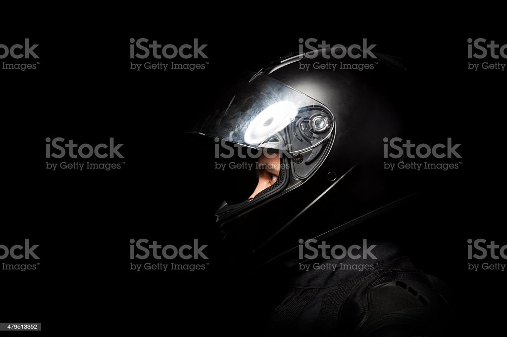 motorcyclist and racer stock photo