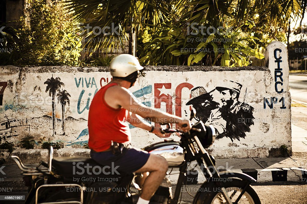 Motorcyclist In Varadero stock photo
