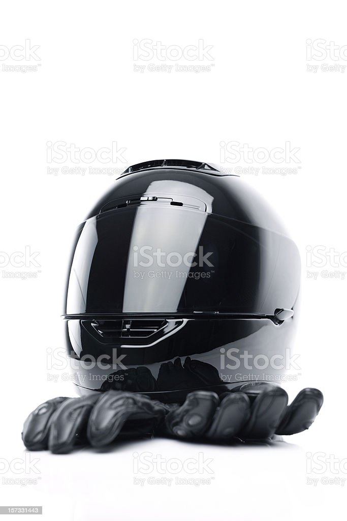 Motorcyclist protective gear royalty-free stock photo