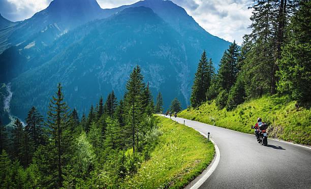 Motorrad- im gebirgigen Touren – Foto
