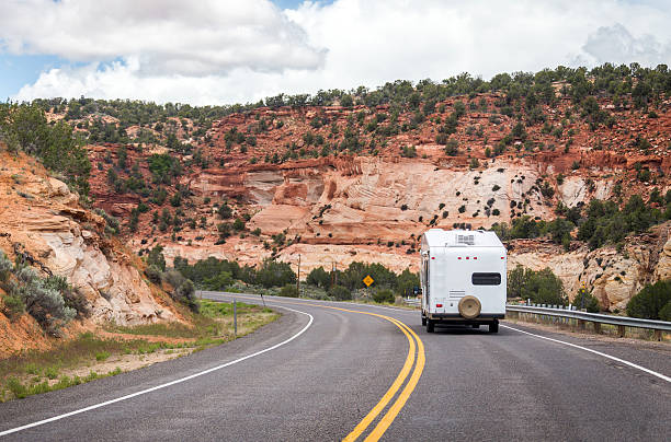 motorhome - bryce canyon national park stockfoto's en -beelden