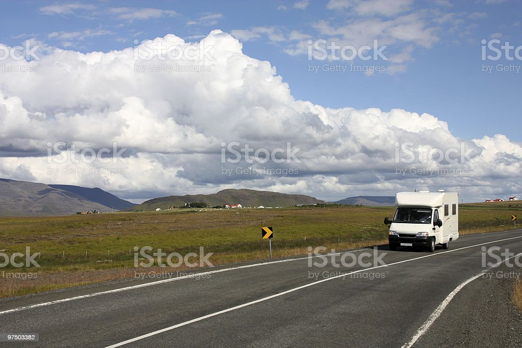 Motorhome, Iceland royalty-free stock photo