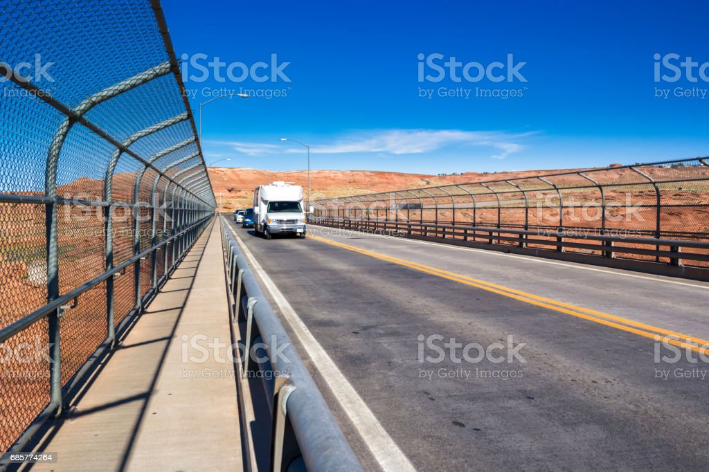 Motorhome on the road. royalty-free stock photo