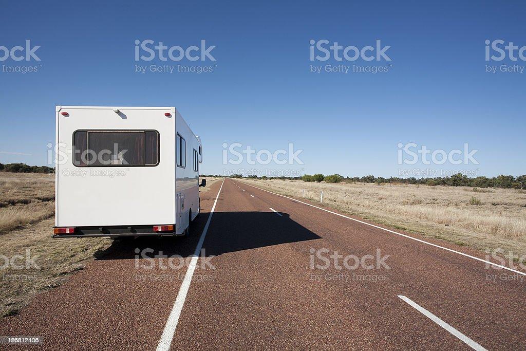 Motorhome tourism stock photo