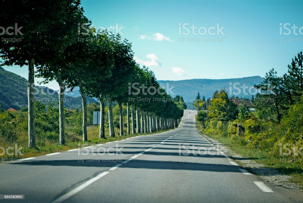 Motoring in the Provence-Alpes-Côte d'Azur region, France stock photo