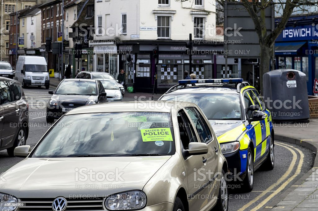 Motoring offence in Ipswich stock photo