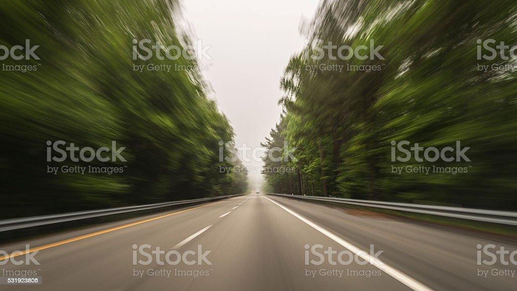 Motoring stock photo