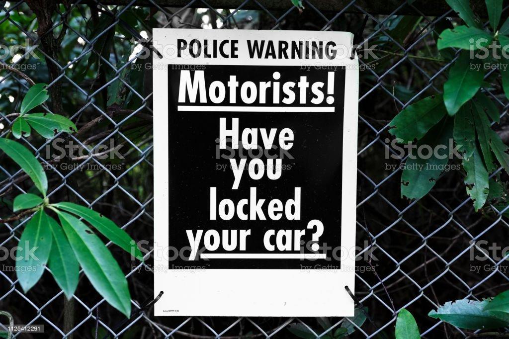 Motorists locked car security police warning uk